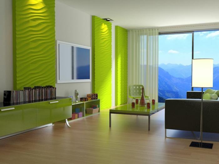 panneau-mural-3d-panneaux-muraux-3d-verts