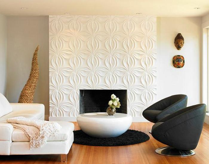 Decoration salon panneau mural 3d accueil design et mobilier for Panneau mural decoratif pour cuisine