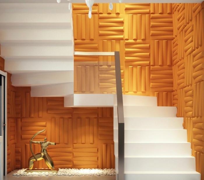 panneau-mural-3d-sticker-3d-décoratif-orange