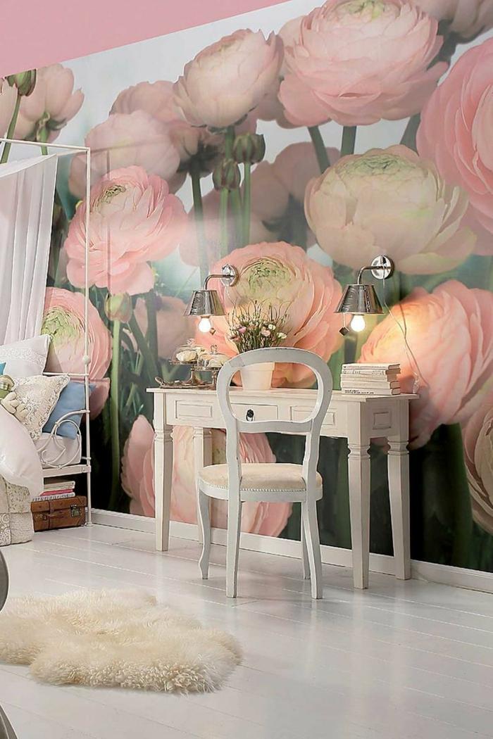 papier-peint-saint-maclou-dans-la-chambre-a-coucher-jolie-variante-pour-décoration-fleurs-sur-les-murs