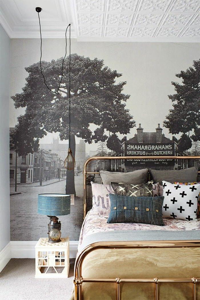 papier-peint-saint-maclou-dans-la-chambre-a-coucher-jolie-variante-pour-décoration