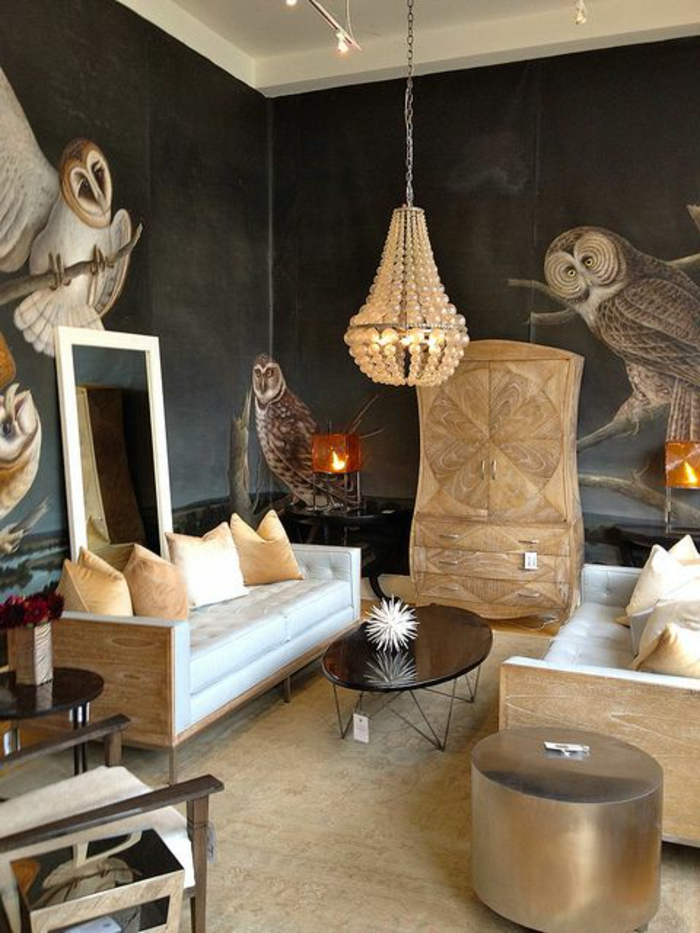 papier-peint-saint-maclou-dans-la-chambre-a-sejour-jolie-variante-pour-décoration