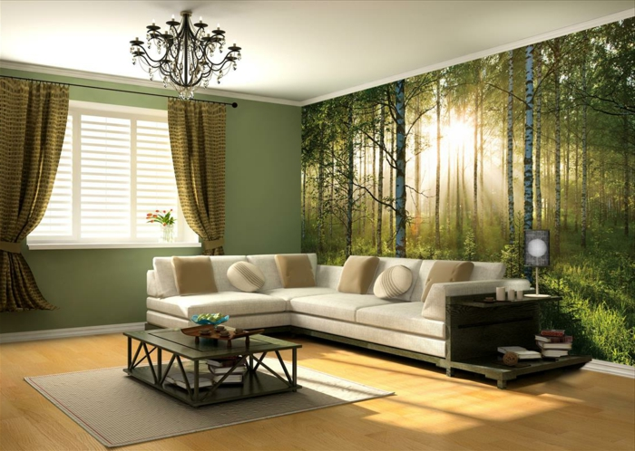papiers-peint-trompe-l-oeil-stickers-trompe-l-oeil-dans-le-salon-meubles-de-couleur-taupe-tapis-taupe-canapé-taupe