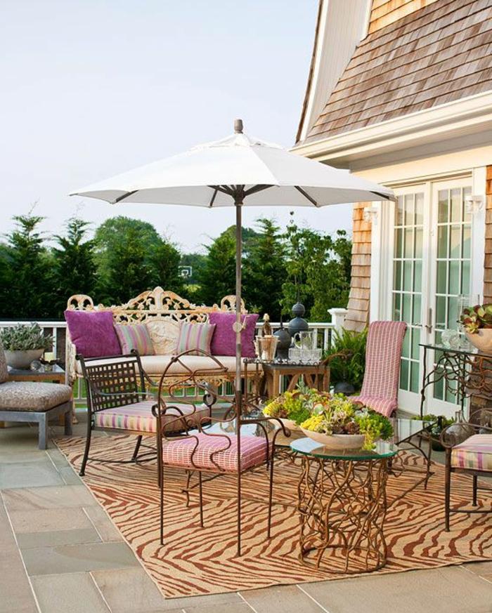 Le parasol de balcon en 50 variantes for Solde plante exterieur