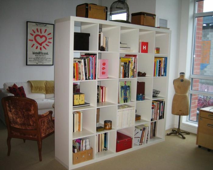 paravant-séparation-de-pièce-paravent-séparateur-de-pièce-bibliothèque