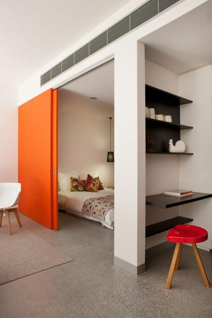 paravent-leroy-merlin-orange-séparer-la-chambre-à-coucher-avec-un-paravent-d-intérieur