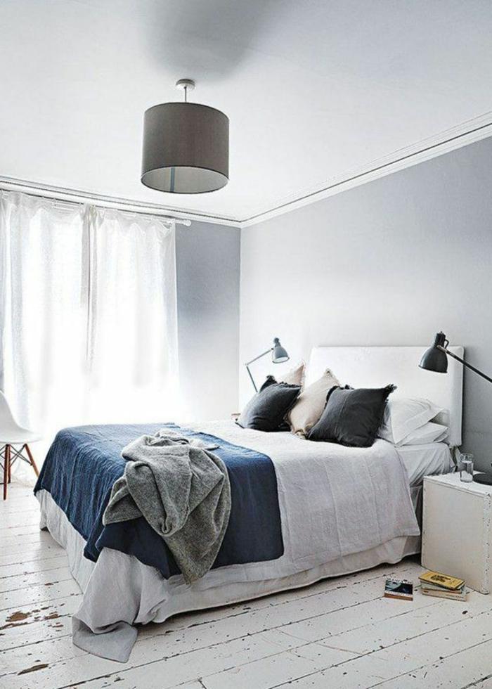 parquet-blanc-blanchir-le-sol-dans-la-chambre-à-coucher