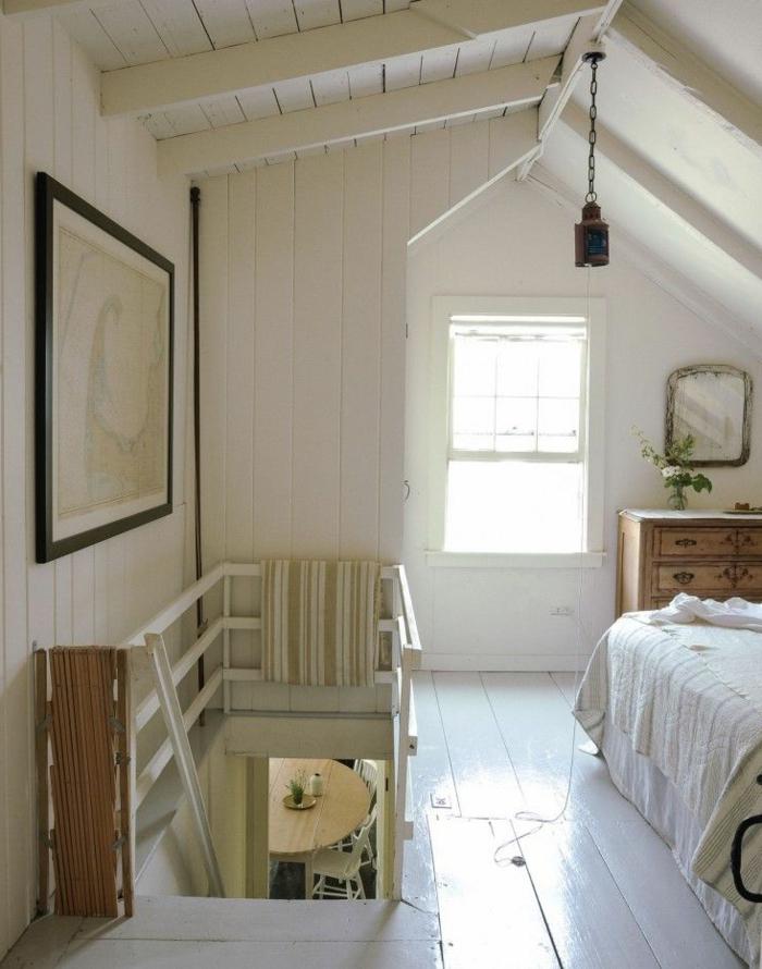 parquet-blanc-chambre-à-coucher-attique