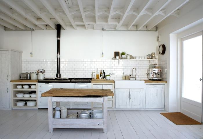 le parquet blanc une jolie tendance deco archzinefr With parquet blanc laqué