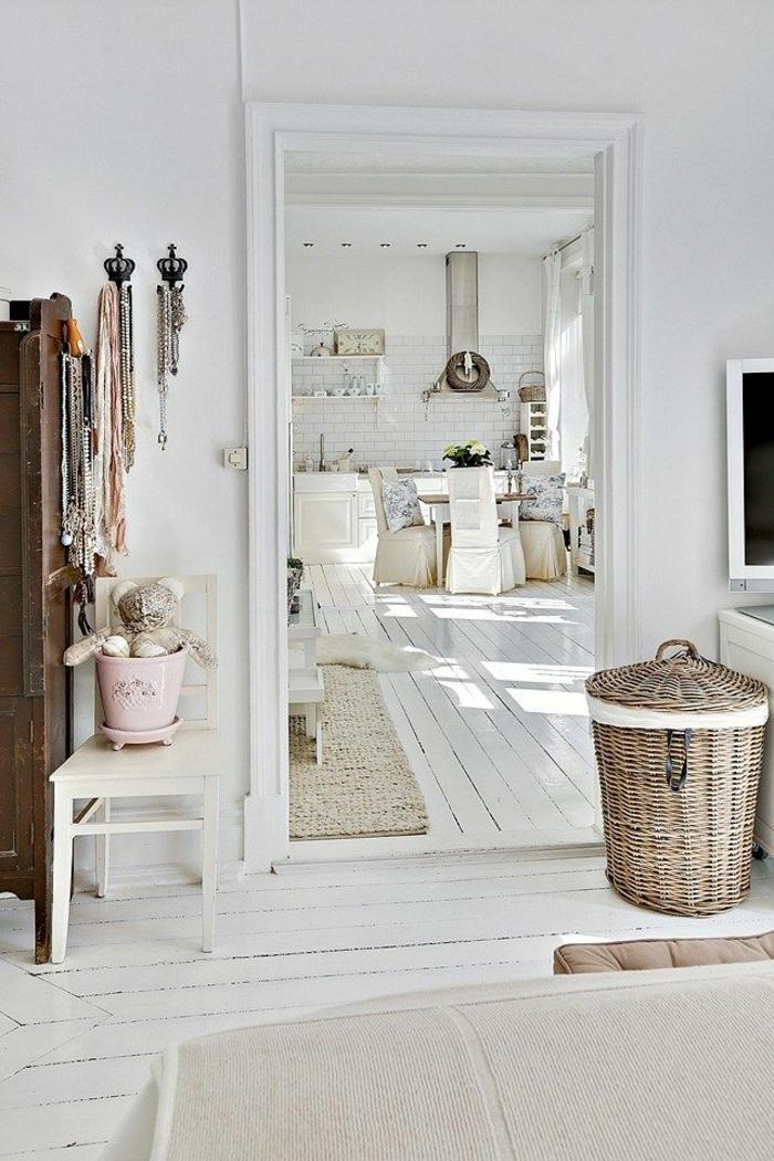 parquet-blanc-intérieur-scandinave-parquet-blanchi-tuiles-blanches