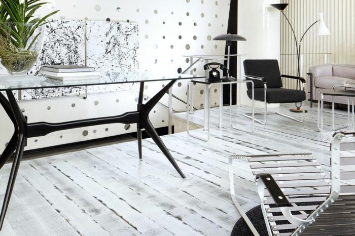 parquet-blanc-plancher-blanc-laqué-intérieur-stylé