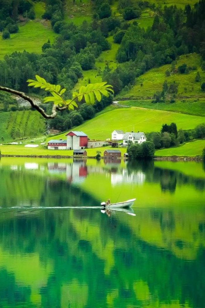 paysage-paradisiaque-de-la-montagne-verte-avec-un-lac-dans-la-nature-jolie