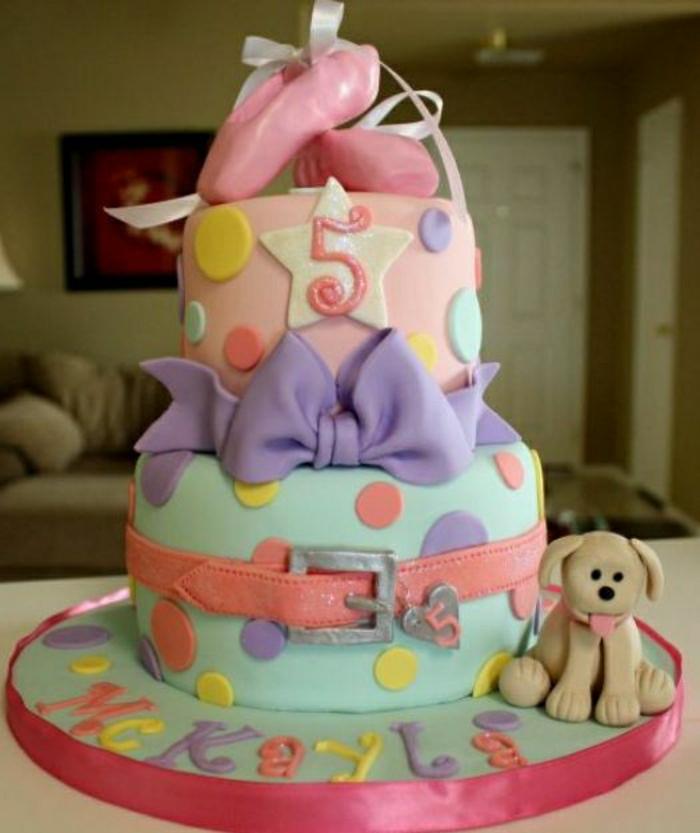 photo-gateau-anniversaire-fille-comment-faire-à-soi-même-idée-gâteau-originale-cool