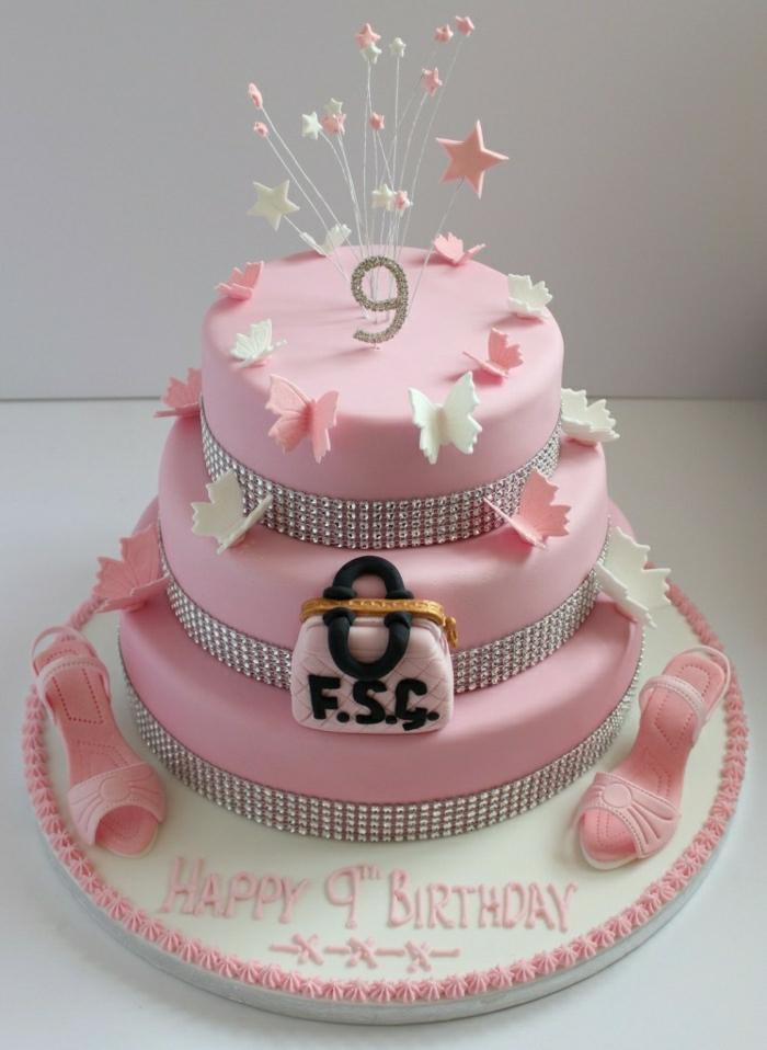 photo-gateau-anniversaire-fille-comment-faire-à-soi-même-idée-gâteau-originale-rose
