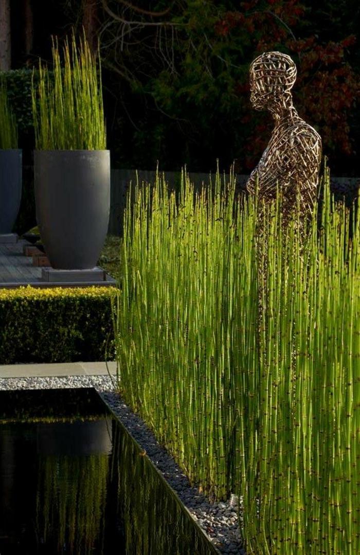 planter-des-bambous-des-bambous-verts-près-d'une-piscine-contemporaine