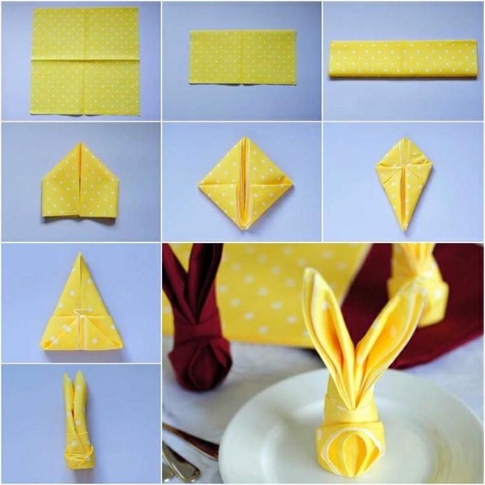 pliage-de-serviette-jaune-pliage-serviette-jaune-pliage-serviette-en-tissu-jaune