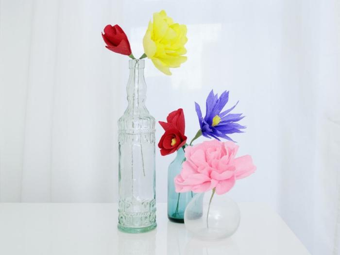 pliage-fleur-papier-crepon-idée-diy-bouquet-en-papier-fleur-en-papier-crépon