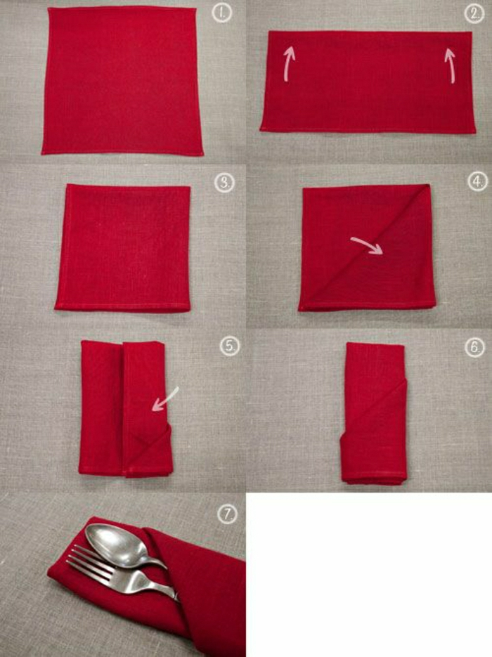 pliage-serviette-rouge-pliage-serviette-en-tissu-rouge-mode-de-pliage-original