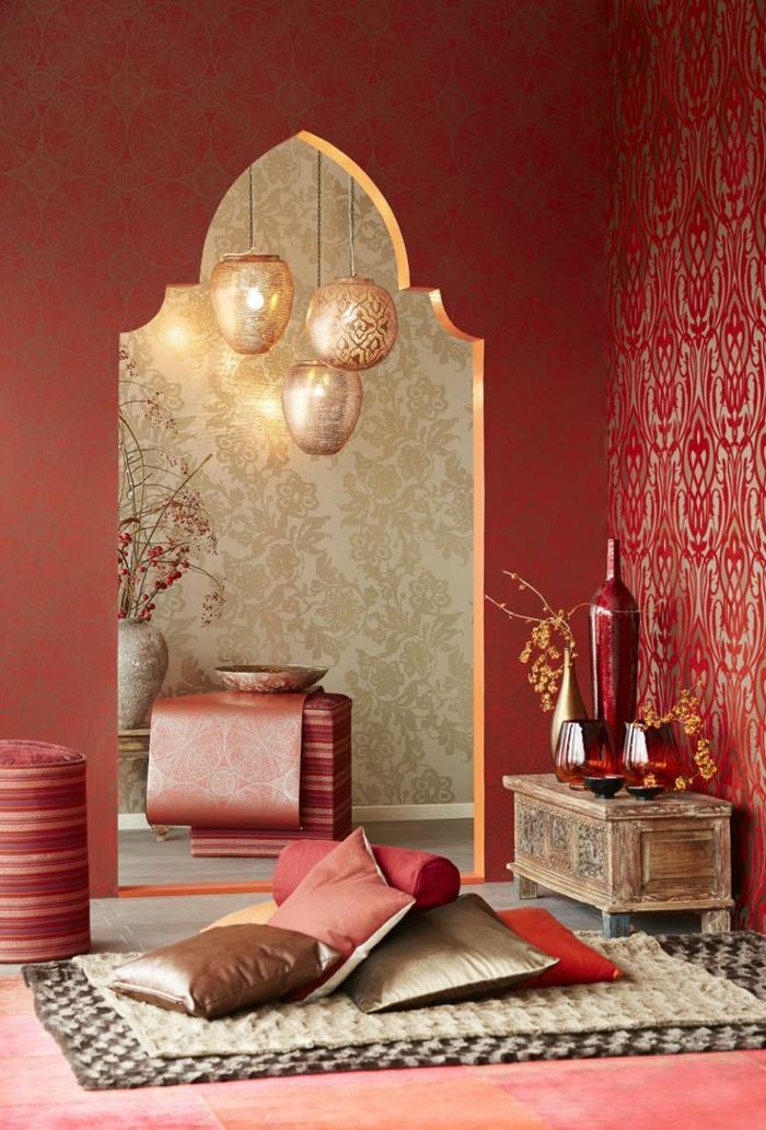 Le pochoir oriental style pour vos murs et pour vos mains - Pochoir pour peinture murale ...