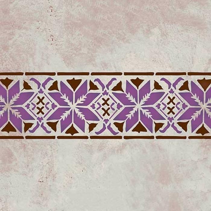 Le pochoir oriental style pour vos murs et pour vos mains for Pochoir pour salle de bain