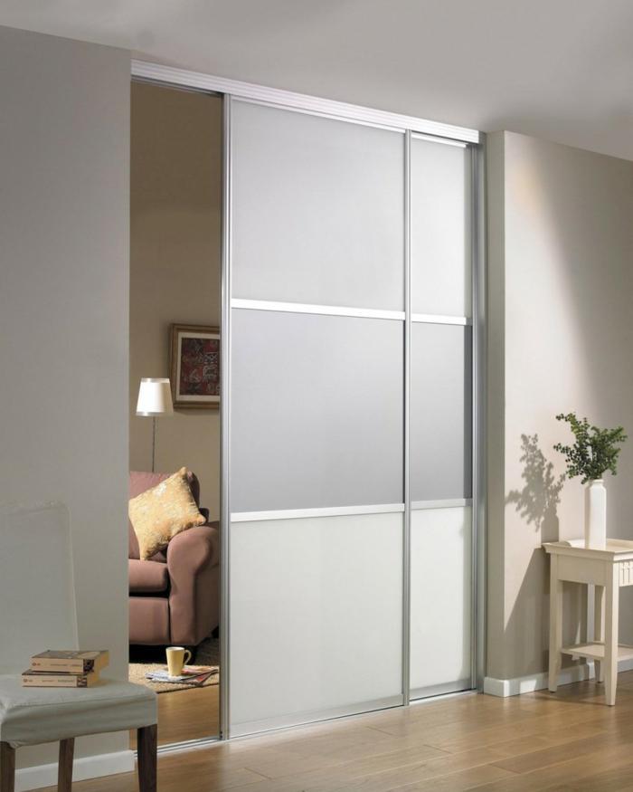 porte-coulissante-gris-sol-en-parquette-clair-porte-gris-séparer-les-chambres-cloison-amovible-pas-cher