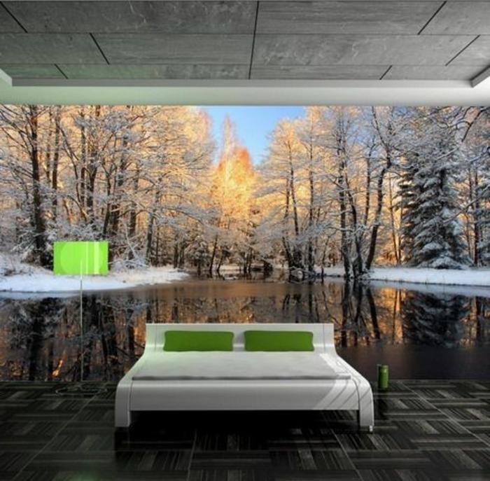 poster-mural-trompe-l-oeil-dans-la-chambre-à-coucher-meubles-décoration-murale