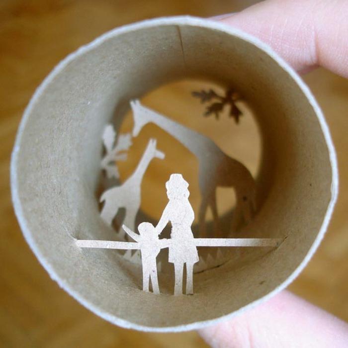 recycler-le-rouleau-de-papier-toilette-idées-de-recyclage-art