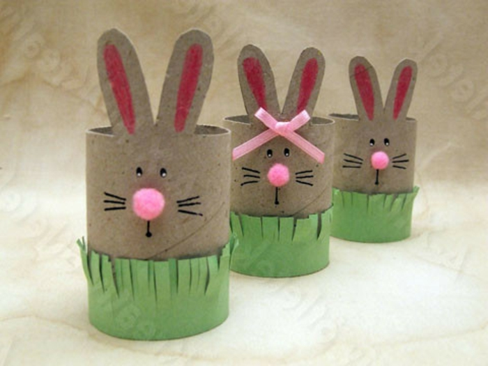 recycler-le-rouleau-de-papier-toilette-lapins-en-rouleau-de-papier-recyclé
