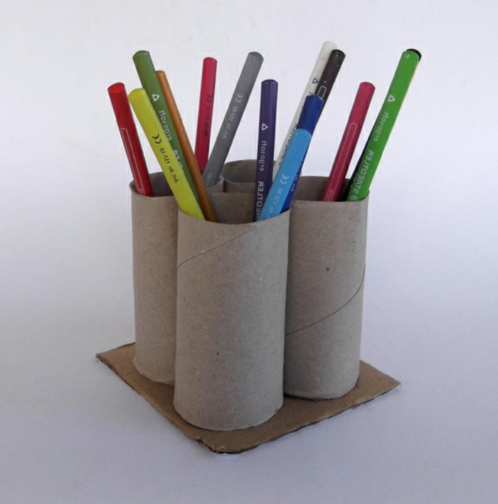 recycler-le-rouleau-de-papier-toilette-organisation-pour-vos-crayons