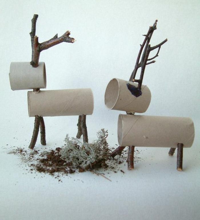 recycler-le-rouleau-de-papier-toilette-rouleaux-de-papier-recyclés-cerfs