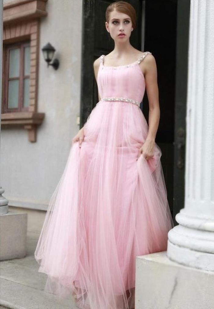robe-fiancailles-robe-de-fiancialle-rose-longue-de-soirée-jolie