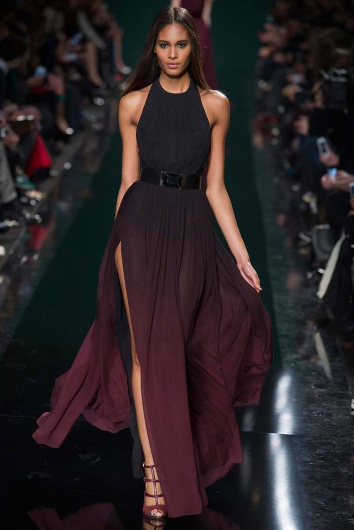 robe-stylé-longue-class-tenue-de-soirée-chic-femme-comment-adopter-tenue-chic-femme