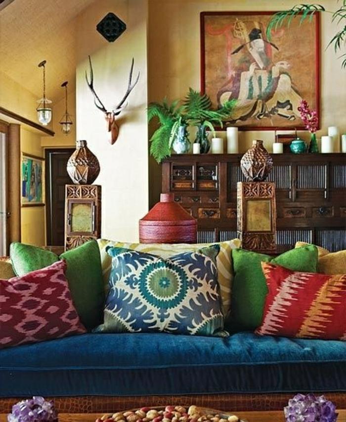 Le canap marocain qui va bien avec votre salon for Meuble marocain
