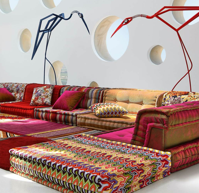 Le canap marocain qui va bien avec votre salon for Matelas de salon marocain