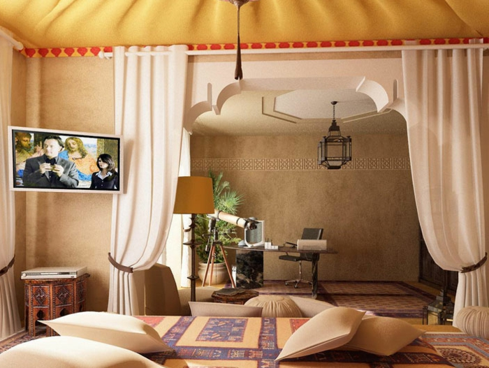 Cuisine Moderne Villa : salonorientalsedarimarocaindécorationsalonmodernecanapé [R