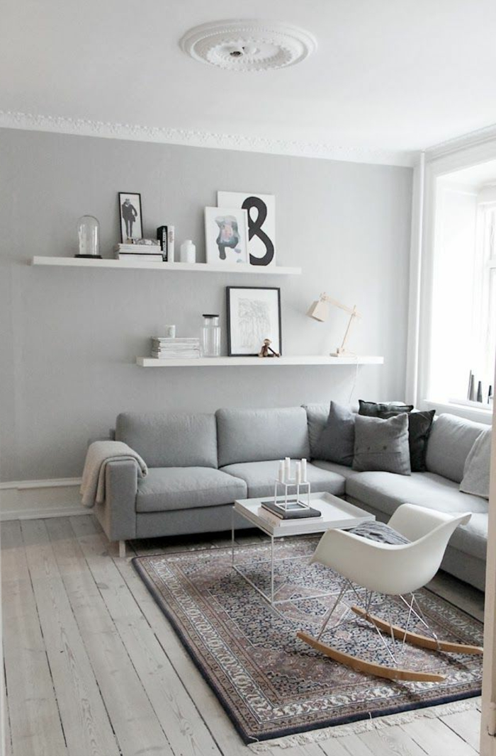 salon-scandinave-chaise-balançoire