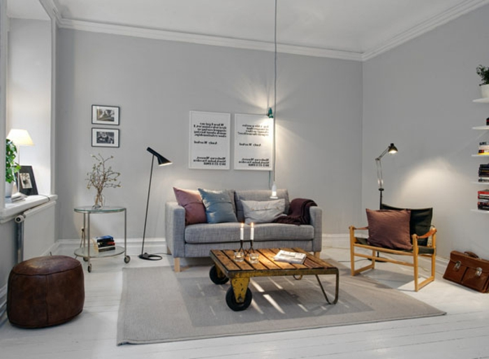 Comment cr er son salon scandinave for Interieur scandinave bois