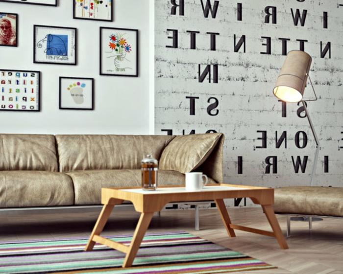 salon-scandinave-papier-peint-briques