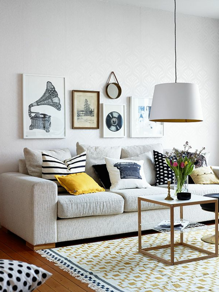 comment cr er son salon scandinave. Black Bedroom Furniture Sets. Home Design Ideas