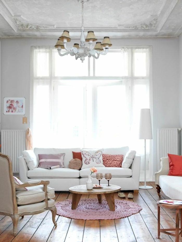 salon-scandinave-tapis-rose-crocheté