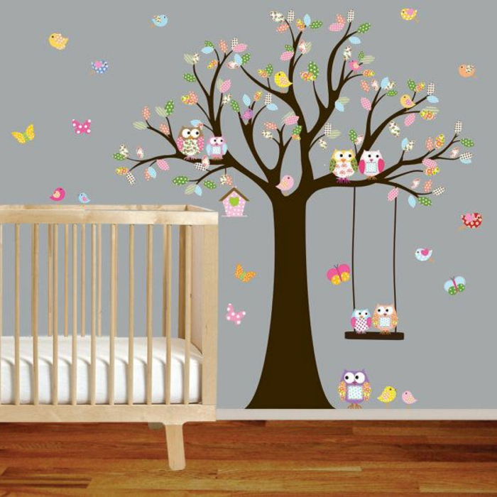 Stickers muraux chambre bebe fille - Stickers jungle chambre bebe ...