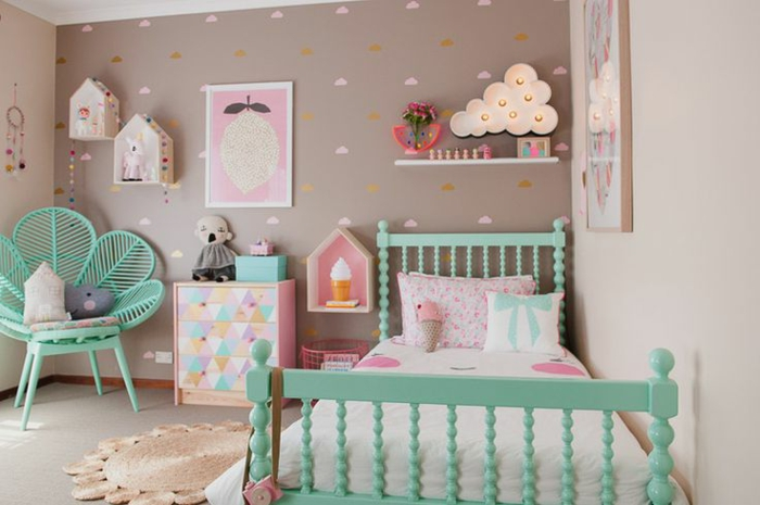 stunning chambre bebe couleur pastel photos. Black Bedroom Furniture Sets. Home Design Ideas