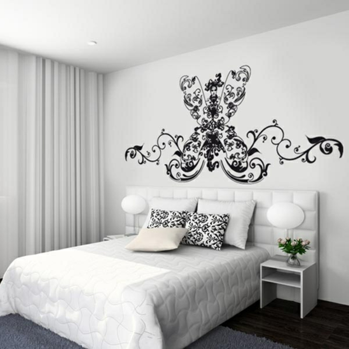 les stickers muraux sont un vrai hit dans l 39 int rieur. Black Bedroom Furniture Sets. Home Design Ideas
