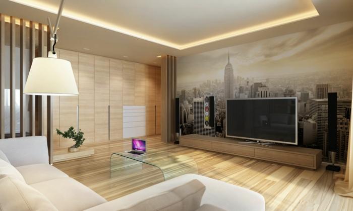 trendy with papier peint mural trompe l oeil. Black Bedroom Furniture Sets. Home Design Ideas
