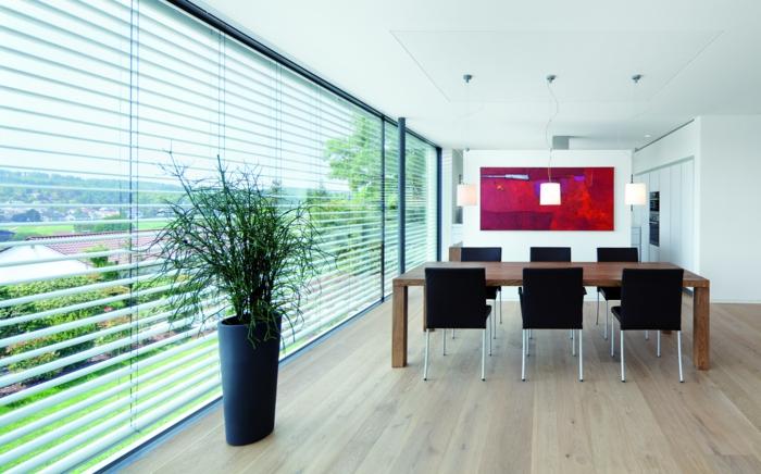 store-venitien-ikea-pour-les-espaces-de-travail-sol-en-parquette-clair-fenetre-grande-plante-verte