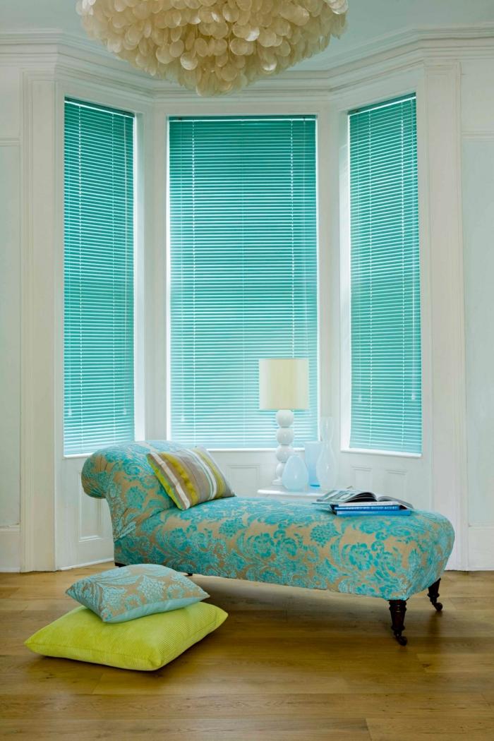 store de couleur turquoise. Black Bedroom Furniture Sets. Home Design Ideas