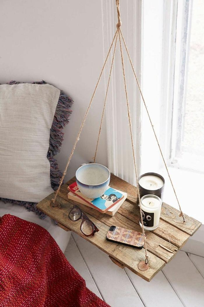 table-de-nuit-suspendue-étagère-flottante-design-créatif