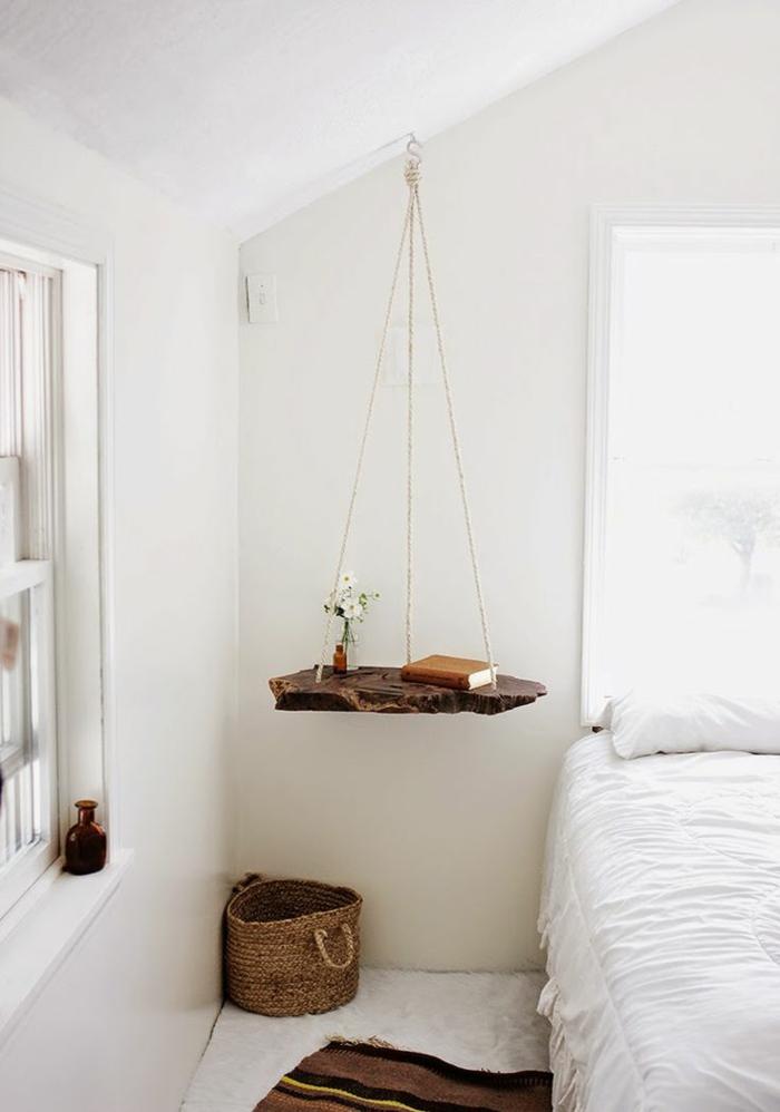 table-de-nuit-suspendue-étagère-flottante-en-bois-flotté