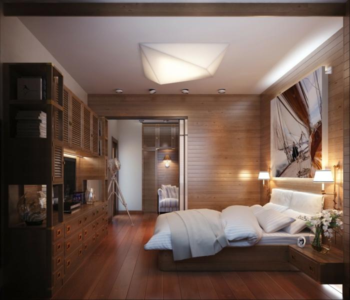 table-de-nuit-suspendue-chambre-à-coucher-chaleureuse-chevets-suspendus