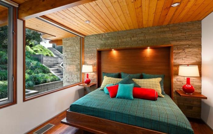 table-de-nuit-suspendue-chambre-à-coucher-déco-rustique